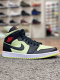 Air Jordan 1 Mid Black Barely Volt