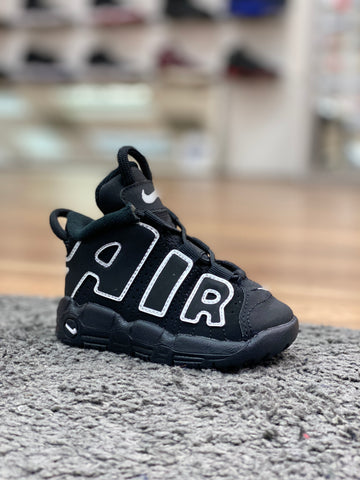Nike Air More Uptempo Black/ White (TD)