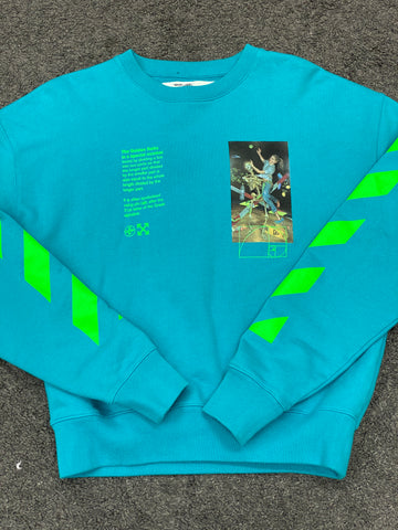 Off-White 'Golden Ratio' Sweatshirt Blue Green