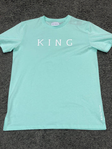 King London Stepney T-shirt Mint Blue