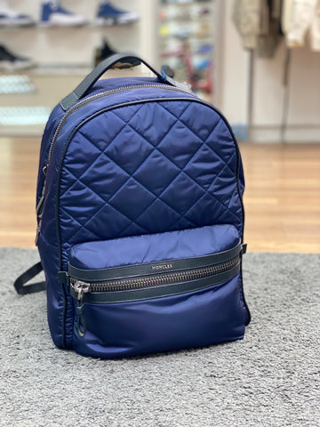 Moncler Quilted Backpack Navy Blue
