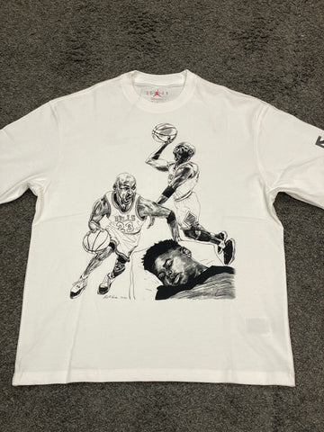 Air Jordan x Off-White Hoop Hero's Graphic T-Shirt White