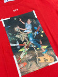 Off-White Portrait Painting T-Shirt Red