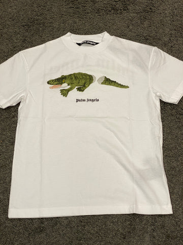 Palm Angeles Crocodile T-Shirt White
