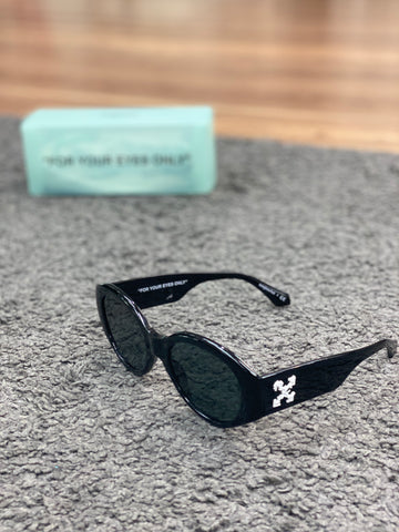 Off-White x Sunglasshut Retro Circular Sunglasses Black
