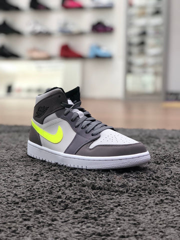 Air Jordan 1 Mid Grey Volt