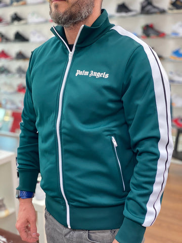 Palm Angels Dark Green Tracksuit Top