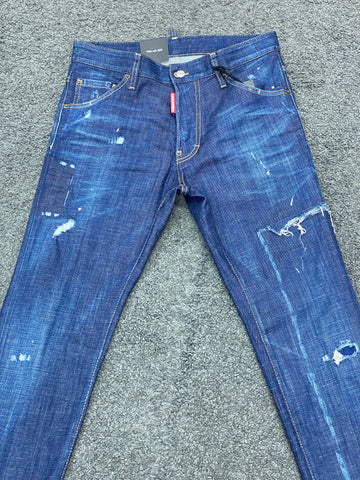 Dsquared2 Ripped Cool Guy Jean Dark Blue
