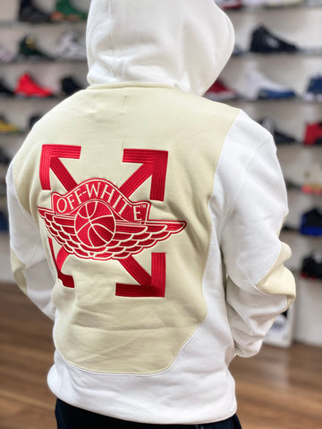 Air Jordan x Off-White Jumpman Logo Hoodie White Cream