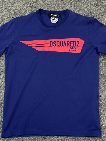 Dsquared2 Logo T-Shirt Blue Red