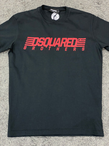 Dsquared2 Logo T-Shirt Black Red