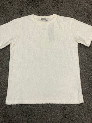 Dior Logo Pattern Cotton T-shirt White