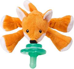 NOOKUMS PACI-PLUSHIES SHAKIES - FOX PACIFIER HOLDER - PLUSH TOY INCLUDES DETACHABLE PACIFIER