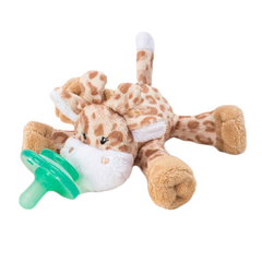 NOOKUMS PACI-PLUSHIES BUDDIES - GIRAFFE PACIFIER HOLDER - PLUSH TOY INCLUDES DETACHABLE PACIFIER
