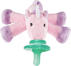 NOOKUMS PACI-PLUSHIES SHAKIES - UNICORN PACIFIER HOLDER - PLUSH TOY INCLUDES DETACHABLE PACIFIER
