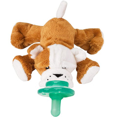 NOOKUMS PACI-PLUSHIES SHAKIES - BULL DOG PACIFIER HOLDER - PLUSH TOY INCLUDES DETACHABLE PACIFIER