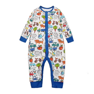 Baby Sleepsuit Aeroplane Bicycle Car Jumpsuit All In One - Little Kooma