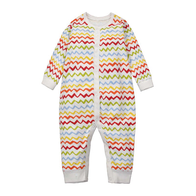 Baby Sleepsuit Colorful Waves Jumpsuit All In One - Little Kooma