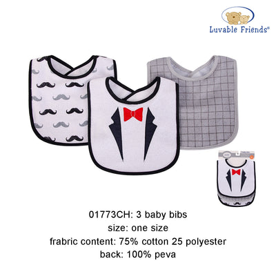 Hudson Baby Bibs 3 Pcs Pack - Little Kooma