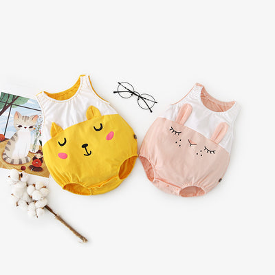 Baby Bunny Bear Sleevess Bodysuit - Little Kooma