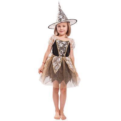 Kids Halloween Costume Embroidered Skele Witch - Little Kooma