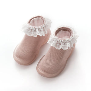 Baby Girl First Walking Shoes with Socks Toddler Booties