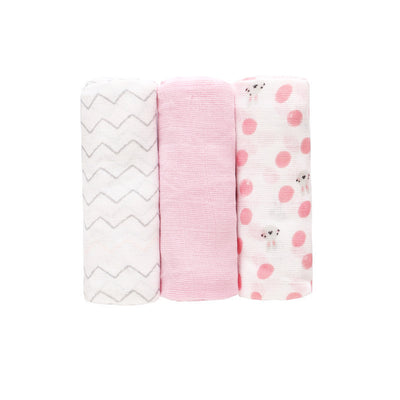 Baby Single Layer Muslin Blanket Swaddle 3 Pack 70*70 - 0605 - Little Kooma