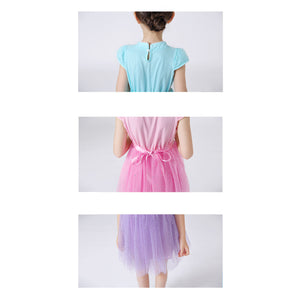 Elsa Cheongsam Dress w Detachable Cape Frozen Costume - Little Kooma
