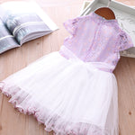 Girls Voile Lace Splicing Cheongsam Dress w Bag - Little Kooma
