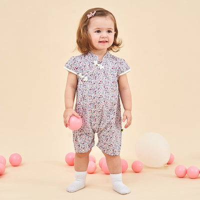 Baby Girl's Purple Cheongsam Romper - 1028 - Little Kooma