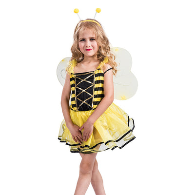 Kids Halloween Costume Yellow Bee - Little Kooma