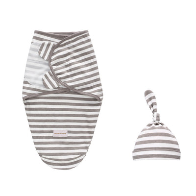 Baby Swaddle n Hat 2 Pack Magic Tape - 0605 - Little Kooma