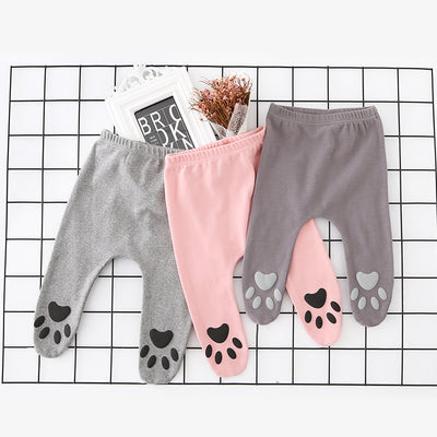 Baby Feet Covered Pants w Foot Prints - 0616 - Little Kooma