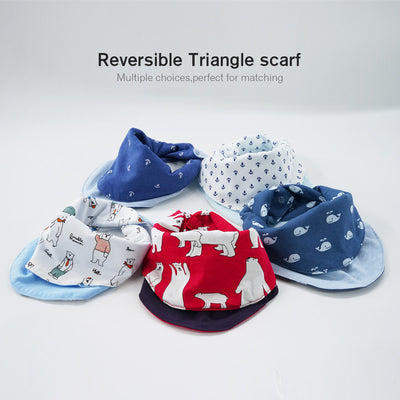 Baby Reversible Cotton Triangle Scarf Bib - 0527 - Little Kooma