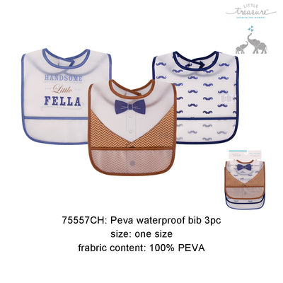 Luvable Friends Peva Waterproof Bibs 3 Pcs Pack - Little Kooma