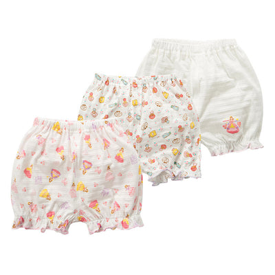 Baby Kid Girls Cotton Shorts Princess 3 Pack - Little Kooma