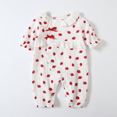 Baby Girl Collar Strawberry All In One - 0524 - Little Kooma