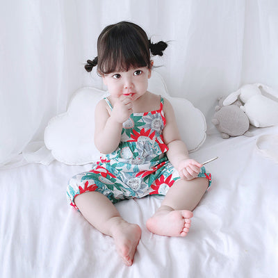 Baby Girl Sunflowers Cami Romper - 0616 - Little Kooma