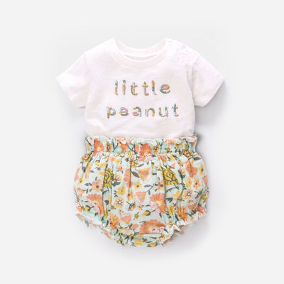 Baby Girl Little Peanut Top n Shorts Set - 0521 - Little Kooma