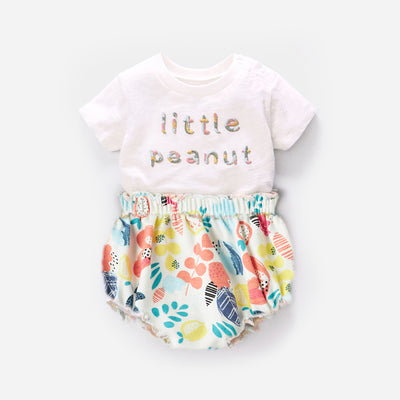 Baby Girl Little Peanut Top n Shorts Set - 1118 - Little Kooma