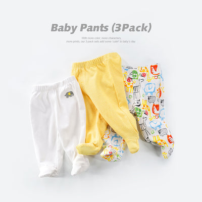 Baby Feet Covered Pants 3 Pack - 0527 - Little Kooma