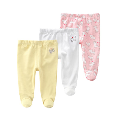 Baby Feet Covered Pants 3 Pack Cats - 0527 - Little Kooma