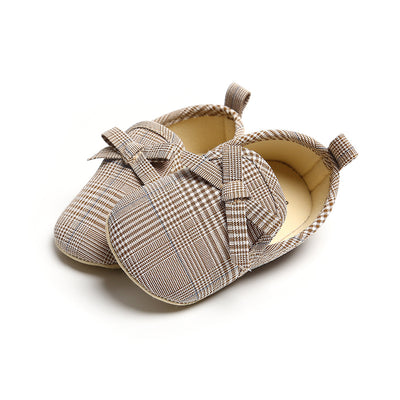 Baby Girl Plaid Loafers - 0912 - Little Kooma