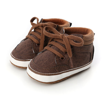 Baby Boy PU Leather Sneakers - 0912 - Little Kooma