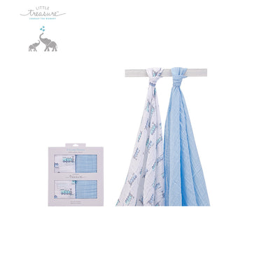 New Hudson Baby Single Layer Muslin 2 Piece Pack 00579 - 0801 - Little Kooma