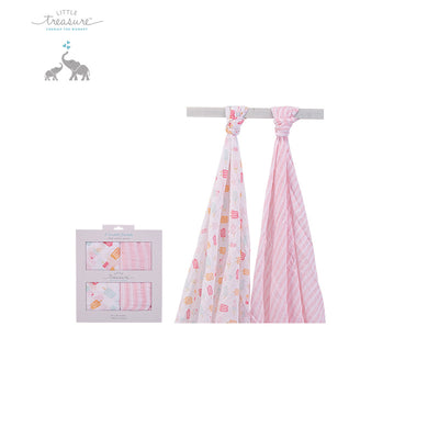 Hudson Baby Double Layer Muslin 2 Piece Pack 00567 - 0801 - Little Kooma