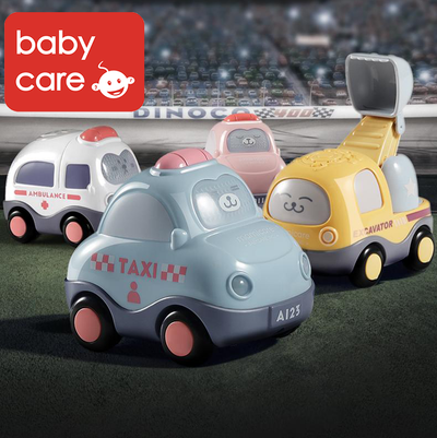 Babycare Baby Toys Mini Cars Set Cartoon Trucks Vehicles Transportation Car Toys for Boys and Girls 4pcs - Little Kooma