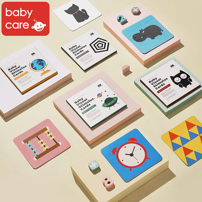 Baby Visual Stimulus Cards Early Education Card Visual Card Color Card Four Packs - Little Kooma