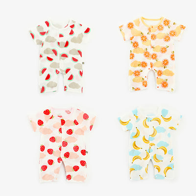 Baby Fruits Gauze Romper Front Buttons - 1006 - Little Kooma