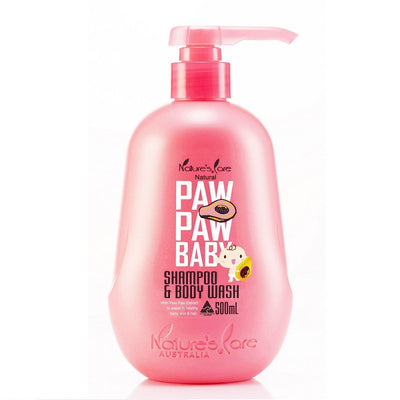 Paw Paw Baby Shampoo & Body Wash 500ml - Nature's Care - Little Kooma